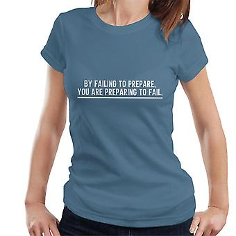 Niezastosowanie się do przygotowania Podkoszulki na ramiączkach damskie Benjamin Franklin cytat
