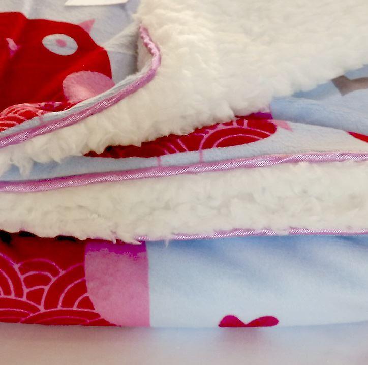 Birds Mink Sherpa Fleece Lined Baby Blanket