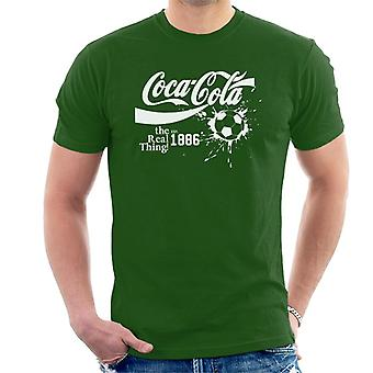 Camiseta Coca-Cola bola autêntico texto branco masculino