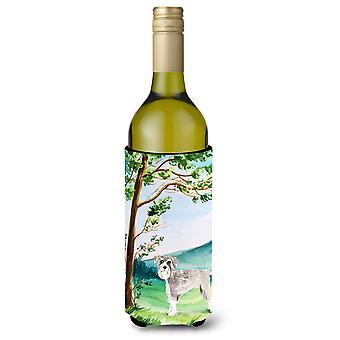 تحت شجرة Schnauzer #1 زجاجة النبيذ المشروبات عازل نعالها