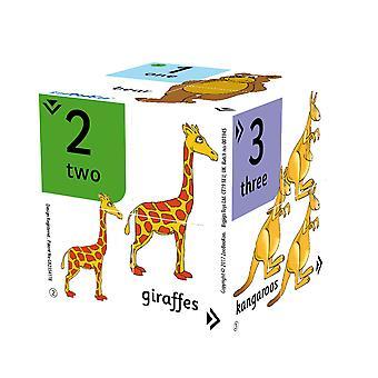 ZooBooKoo educatieve nummers vinden de oneven één uit Cubebook tellen leren