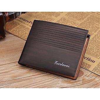 GENUINE PU Leather Wallet Feurdanni Dark Brown Credit Card Money Purse SIM ID