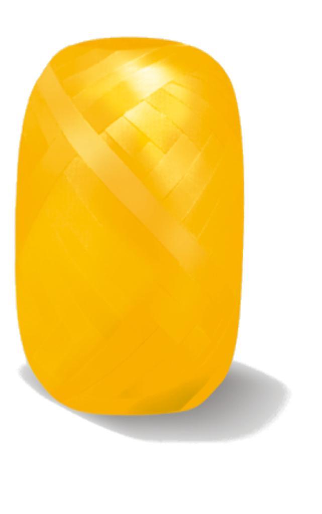 Ballongsnöre Gult 20 m x  7 mm