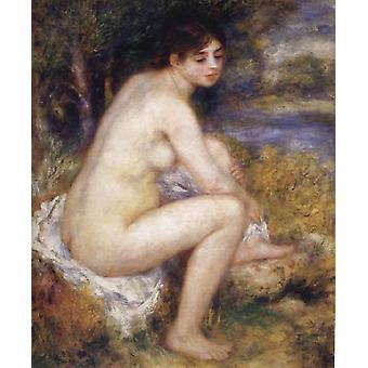 Female Nude in a Landscape,Pierre Renoir,65x55cm