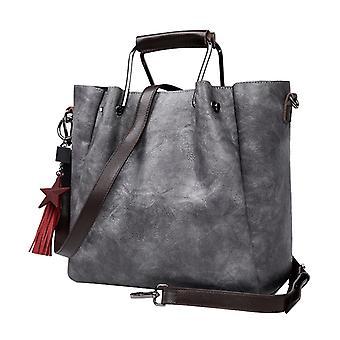 The handbag in grey LAMM2019, 33x26x15 cm