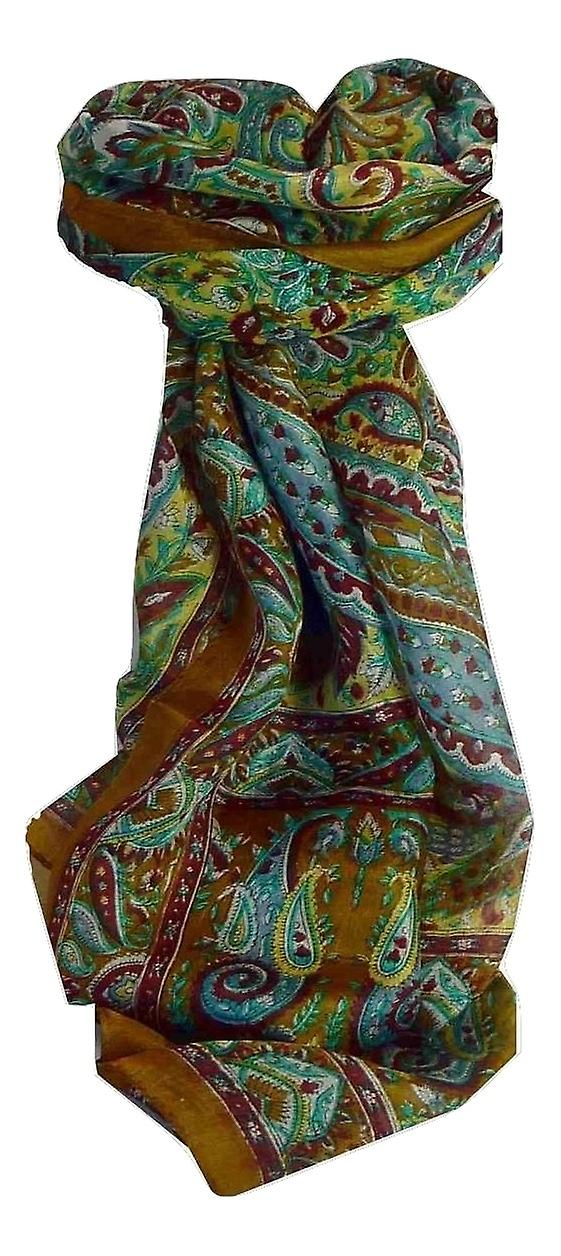 Mulberry Silk Traditional Long Scarf Anna Caramel by Pashmina & Silk