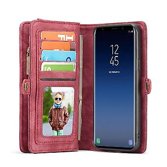 Cell phone case for Samsung Galaxy S9 plus G965F CaseMe protective case purse + case red