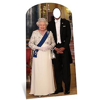 Drottning Elizabeth II Lifesize kartong Stand-in Cutout