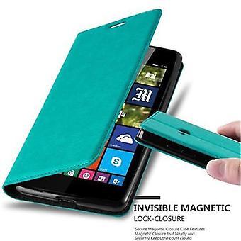 Cadorabo Hülle für Nokia Lumia 540 Case Cover - Handyhülle mit Magnetverschluss, Standfunktion und Kartenfach – Case Cover Schutzhülle Etui Tasche Book Klapp Style