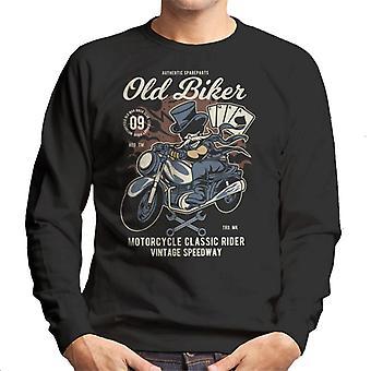 Oude Biker Tophat mannen Sweatshirt