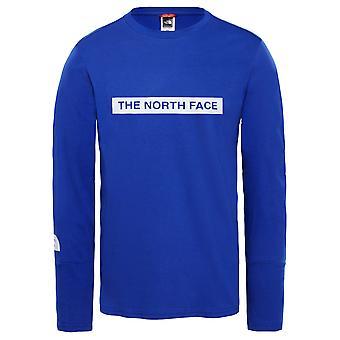 Leve de camisa de manga comprida o norte rosto masculino