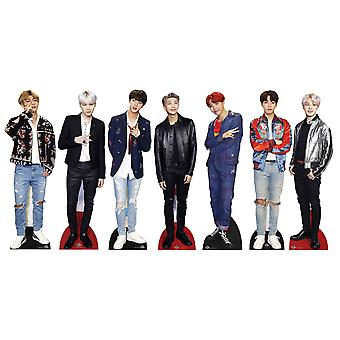 BTS Bangtan Boys Mini Cardboard Cutouts set of 7