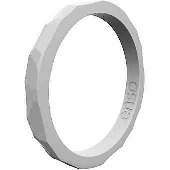 Enso Rings Hammered Stackables Series Silicone Ring - Grey