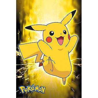 Pokemon Pikachu Neon Maxi plakat 61x91.5cm