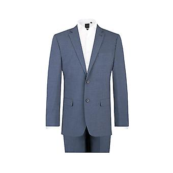 Dobell Herre Mississippi blå 2 Piece Suit Fit Regular Notch revers