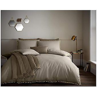 Pom Pom ausgefallene Decke Quilt Cover PolyCotton Bettwäsche-Set mit Kissenbezug