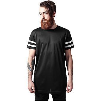 Urban Classics mannen T-shirt streep mesh thee