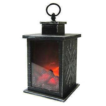 Lantern Fire Flames 25cm with timer