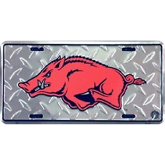 Arkansas Razorbacks NCAA «Diamond» plaque d'immatriculation