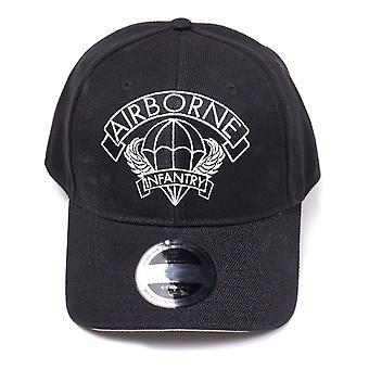 Wolfenstein Cap Airborne Curved Bill - Black (BA047264WLF)