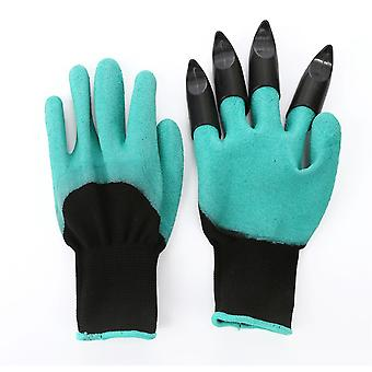 Garden work gloves with chlorine planting composting