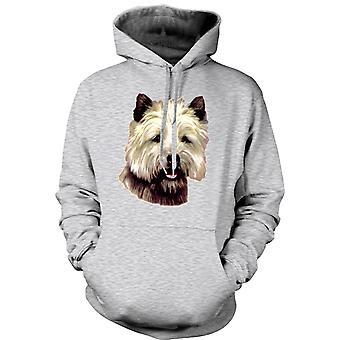 Mens Hoodie - Cairn Terrier Pet - Dog
