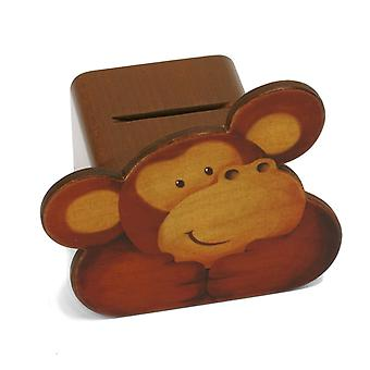 Weizenkorn piggy bank face Monkey Wood