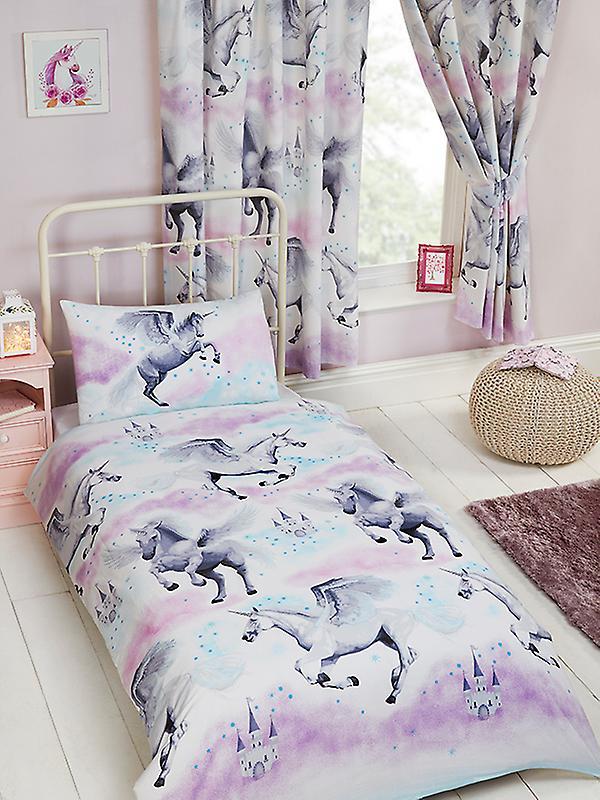 Stardust Unicorn Duvet Cover and Pillowcase Set