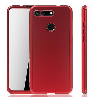 Huawei Honor View 20 Funda de Protección de La Funda de Teléfono Cubierta Completa Vidrio Rojo