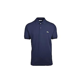 Lacoste Basic Logo Pique Regular Fit Polo Shirt Navy