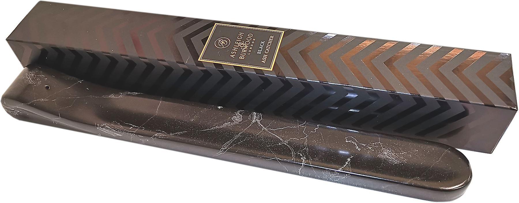 Incense Stick Holder Black- Ceramic Marble Effect