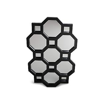 Speil vegg svart 56x37 cm