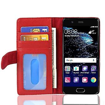 Cadorabo Case for Huawei P10 PLUS Case Cover - Phone Case with Magnetic Closure and 3 Card Slots - Case Case Case Case Case Case Book Folding Style