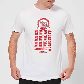 National Lampoon Jelly Of The Month Club Hommes-apos;s T-shirt de Noel - Blanc