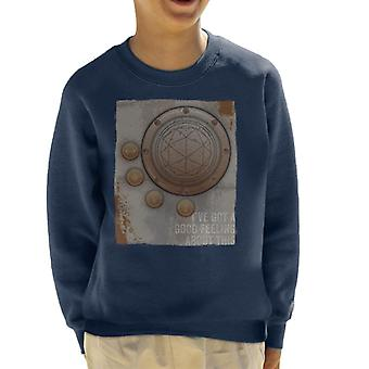 The Crystal Maze Second Good Feeling Rust Panel Kid's Sweatshirt