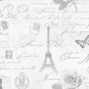 Caligrafia Paris cartão wallpaper Holden