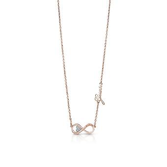 Guess Jewellery Guess Rose Gold Plated Horizontal Infinity Charm Necklace  UBN85013