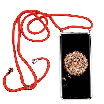 Phone Chain for Samsung Galaxy S9 Plus - Smartphone Necklace Case with Band - Cord with Case to Hang In Pink