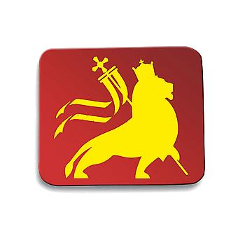 Tappetino mouse pad rosso fun3268 rasta reggae lion