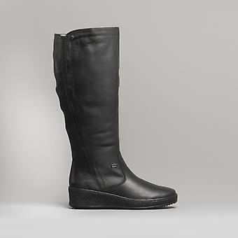 Rieker Y4460-00 Ladies Leather Tall Boots Black