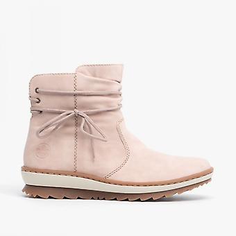 ريكر Z8653-33 السيدات إسفين كعب الكاحل الأحذية روز