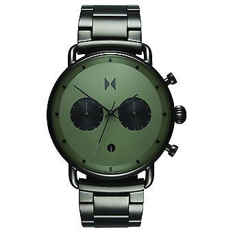MVMT blacktop Chrono mäns klocka armbandsur rostfrittstål D-BT01-OLGU