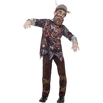 Deluxe Zombie Viking Costume, Medium Age 7-9