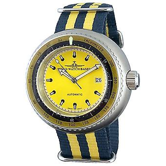 Zeno-Watch-Armbåndur-mænd-Deep Diver takymeter gul-500-I9