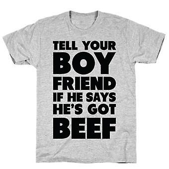 Tell your boyfriend grey t-shirt