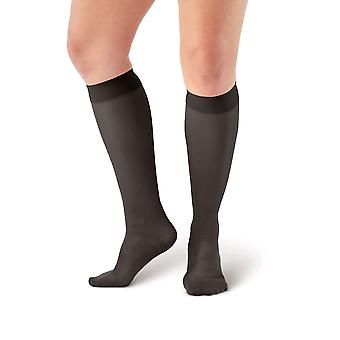 Pebble UK Microfibre Opaque Support Knee Highs [Style P209] Sand  XL