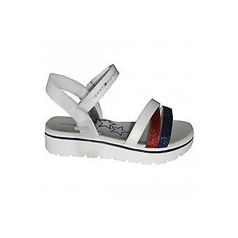 Tommy Hilfiger Girls White MultiStrap Sandals