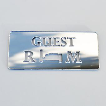Guest Room Acrylic Mirrored Door Sign