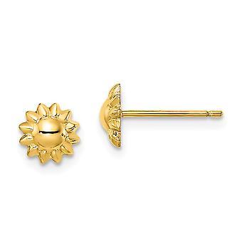 14k Madi K Solros Post Örhängen Smycken Gåvor för kvinnor - 0,5 gram