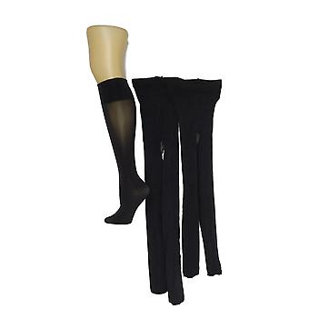 Legacy Women's Set Of 2 Microfiber Tights & 3 Trouser Socks Black 1